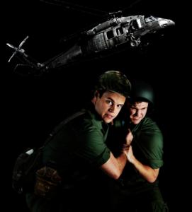Adam Stafford (left) as John & David Irvine (right) as Chris.